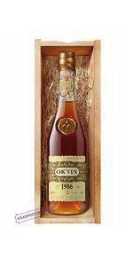 Российский коньяк старый OKVIN 1986, 0,5 л в подарачной упаковке