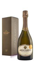 Империал Кюве Ар-Нуво Абрау Дюрсо брют белое игристое вино 2014 год, 0,75 л в подарочном ящике