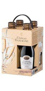 Шато Тамань брют белое  игристое вино 0,2 л, подарочный набор