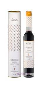 Красностоп Шато Тамань красное сладкое вино 0,375 л в подарочном тубусе