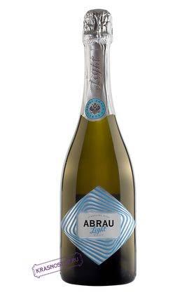 Abrau Light брют белое игристое вино, 0,75 л