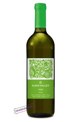 Alma Valley белое сухое вино, 0,75 л