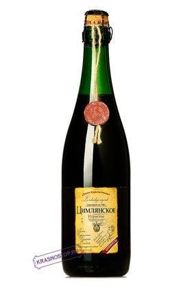 Казачка Цимлянские вина красное сладкое игристое вино, 0,75л