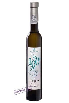Совиньон Айсвайн Фанагория белое сладкое вино, 0,5 л в подарочном тубусе