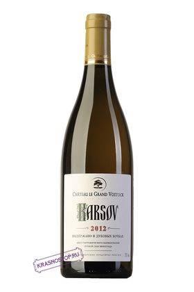 Карсов Шато Ле Гран Восток белое сухое вино 2012 год, 0,75 л