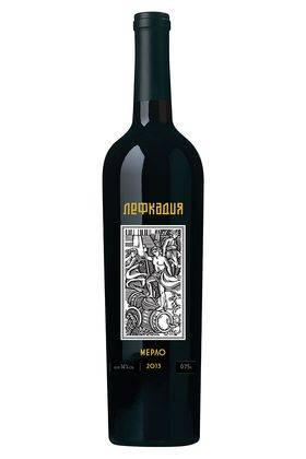 Мерло Лефкадия красное сухое вино 2016 год, 0,75 л