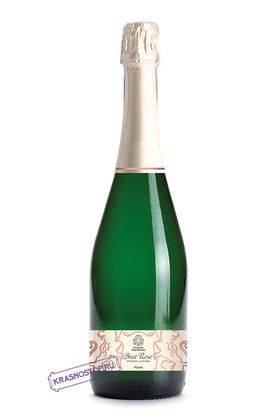 Розе Усадьба Перовских брют розовое игристое вино 2015 год, 0,75 л