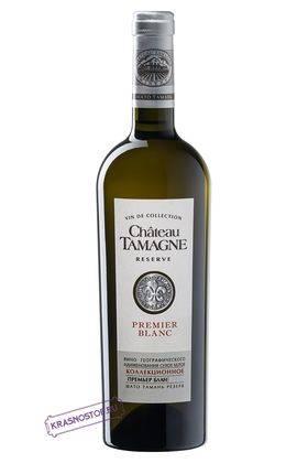 Премьер блан Шато Тамань Резерв коллекционное белое сухое вино 2016 год, 0,75 л