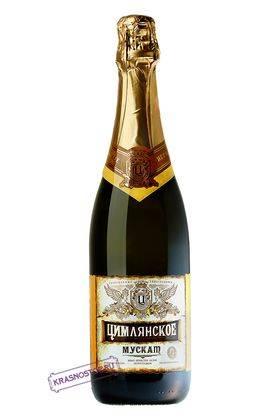 Мускат Цимлянские вина полусладкое белое игристое вино, 0,75 л