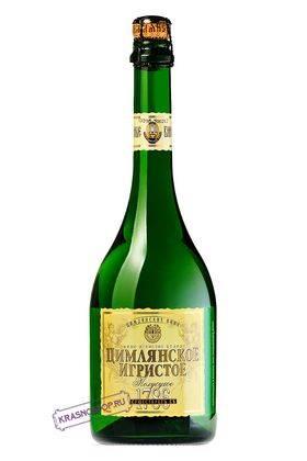 Ретро Цимлянские вина полусухое белое игристое вино, 0,75 л