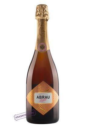 Abrau Light полусладкое розовое игристое вино, 0,75 л