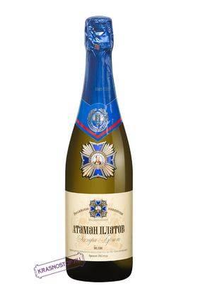 Атаман Платов Цимлянские вина экстра брют белое игристое вино, 0,75 л