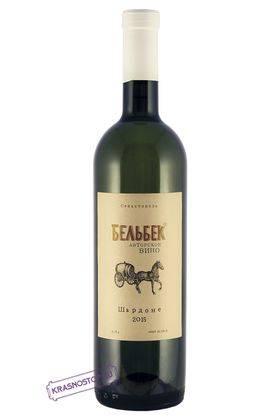 Шардоне Бельбек белое сухое вино 2016 год, 0,75 л