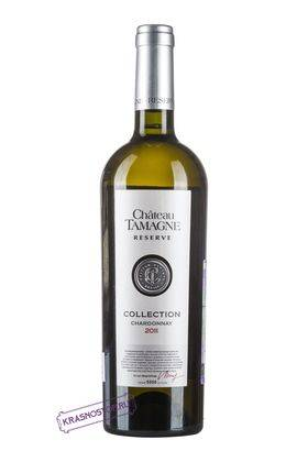Шардоне Шато Тамань Резерв коллекционное белое сухое вино 2011 год, 0,75 л