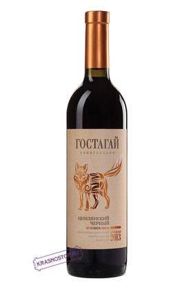 Цимлянский чёрный Гостагай красное сухое вино, 0,75 л