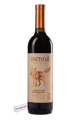 Красностоп Гостагай красное сухое вино, 0,75 л