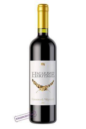 Одесский чёрный Наследие красное сухое вино, 0,75 л