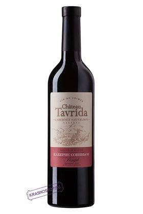 Каберне совиньон резерв Chateau Tavrida красное сухое вино, 0,75 л