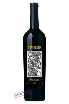 Пти Вердо Лефкадия красное сухое вино 2013 года, 0,75 л