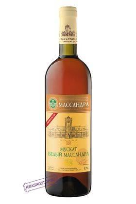 Мускат белый Массандра белое десертное вино 2013 год, 0,75 л