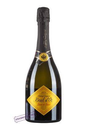 Brut D'Or Blanc de Вlancs Абрау Дюрсо брют белое игристое вино 2014 года, 0,75 л