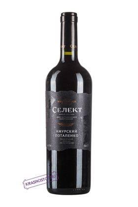 Амурский Потапенко Селект Винодельня Юбилейная красное сухое вино, 0,75 л