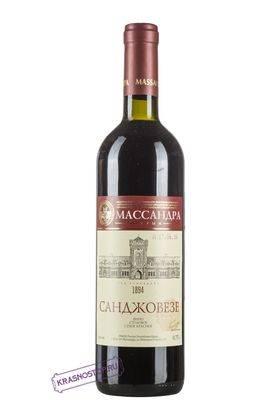Санджовезе Массандра красное сухое вино, 0,75 л
