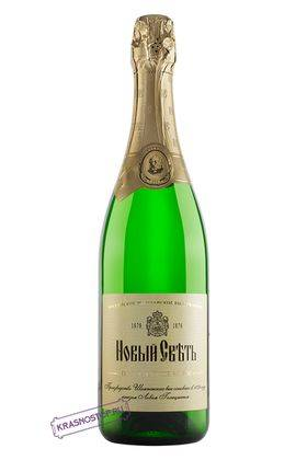 Новый свет выдержанное полусладкое белое игристое вино, 0,75 л