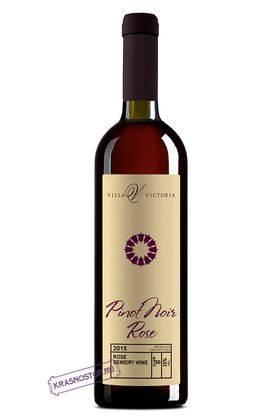 Пино нуар Вилла Виктория  розовое полусухое вино, 0,75 л