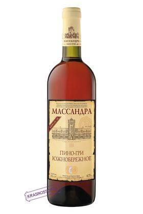 Пино-гри южнобережное Массандра белое сладкое специальное вино 2013 год, 0,75 л