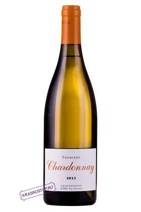 Шардоне Раевское белое сухое вино, 0,75 л