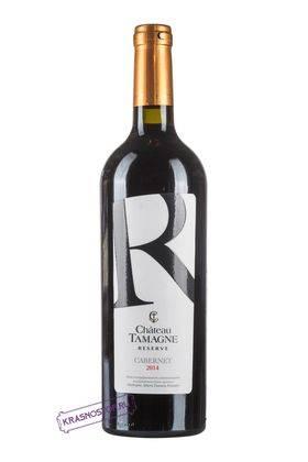 Каберне Шато Тамань резерв красное сухое вино 2016 год, 0,75 л