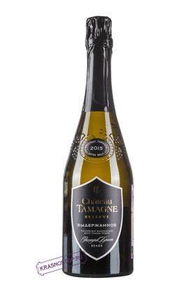 Шато Тамань экстра брют белое игристое вино 2016 год, 0,75 л