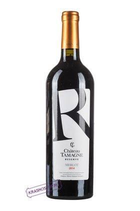 Мерло Шато Тамань резерв красное сухое вино 2016 год, 0,75 л