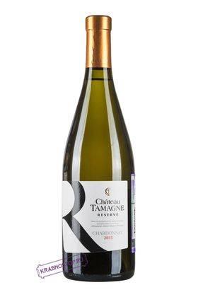 Шардоне Шато Тамань резерв красное сухое вино 2016 год, 0,75 л
