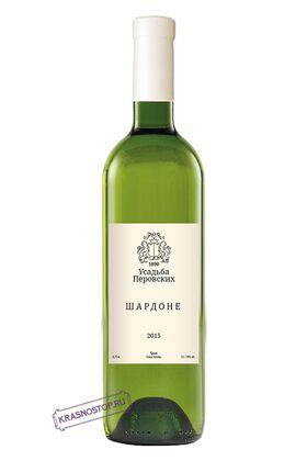 Шардоне Усадьба Перовских белое сухое вино, 0,75 л