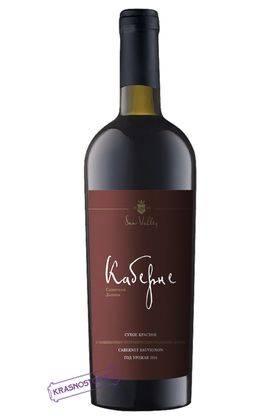 Каберне Солнечная Долина красное сухое вино, 0,75 л