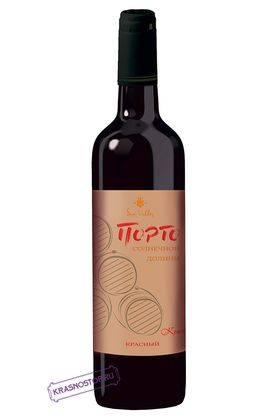 Порто Солнечная Долина красное креплёное вино, 0,75 л