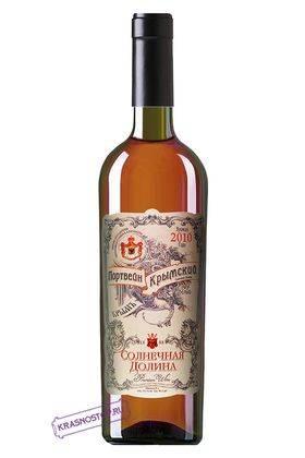 Портвейн Крымский Солнечная долина белое креплёное вино, 0,75 л