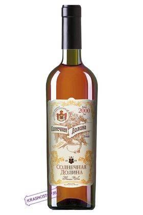 Солнечная долина белое десертное вино 2001 года, 0,75 л