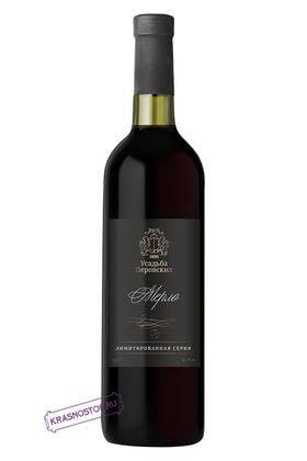 Мерло резерв Усадьба Перовских красное сухое вино 2016 год, 0,75 л