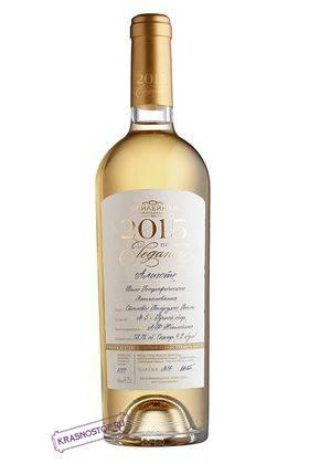Алиготе Elegance Винодельня Юбилейная белое полусухое вино, 0,75 л