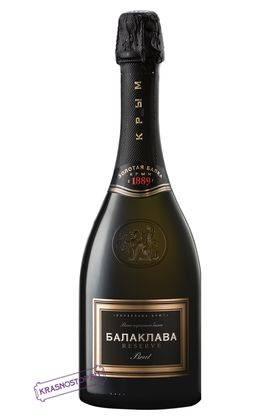 Балаклава резерв брют белое игристое вино, 0,75 л