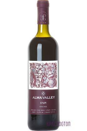 Alma Valley красное сухое вино, 0,75 л