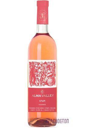 Alma Valley Rose розовое сухое вино, 0,75 л