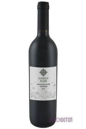 Цимлянский Чёрный Собер Баш красное сухое вино, 0,75 л