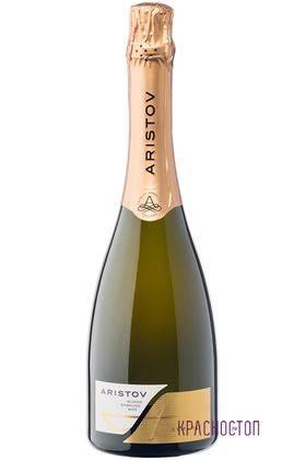 Аристов полусухое белое игристое вино 0,75 л