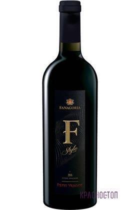 Пти Вердо Ф-Стиль Фанагория красное сухое вино, 0,75 л