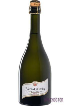 Мускат Оттонель Фанагория брют белое игристое вино 0,75 л