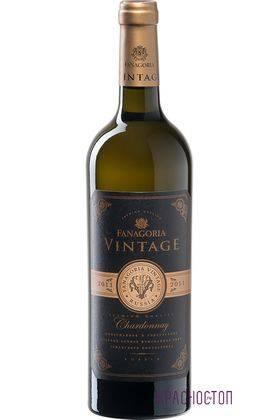 Шардоне Винтаж Фанагория белое сухое вино, 0,75 л